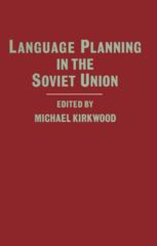 Language Planning in the Soviet Union