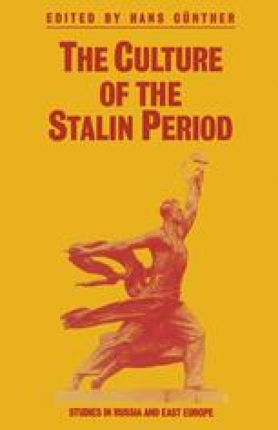 The Culture of the Stalin Period