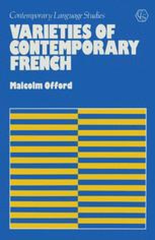 Varieties of Contemporary French
