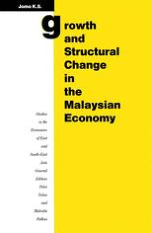 Growth and Structural Change in the Malaysian Economy
