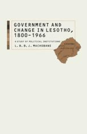 Government and Change in Lesotho, 1800–1966