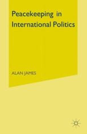 Peacekeeping in International Politics