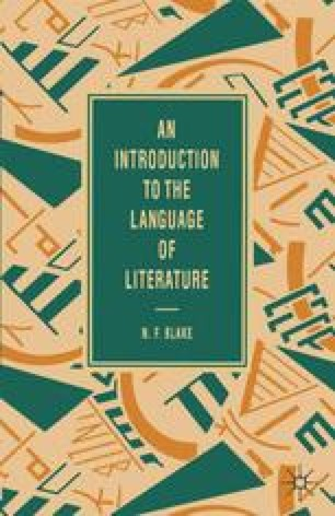 An Introduction to the Language of Literature