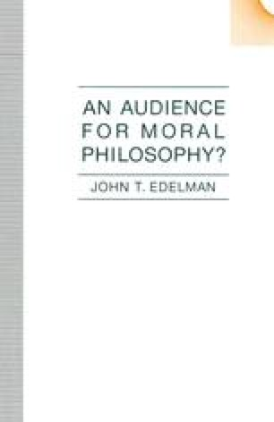 An Audience for Moral Philosophy?