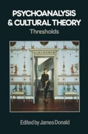 Psychoanalysis and Cultural Theory: Thresholds