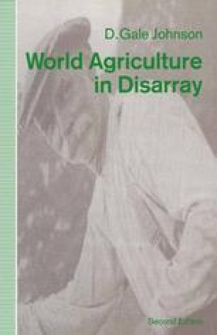 World Agriculture in Disarray
