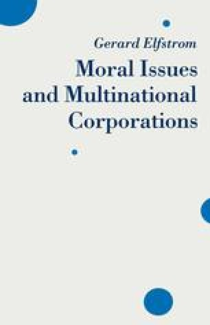 Moral Issues and Multinational Corporations