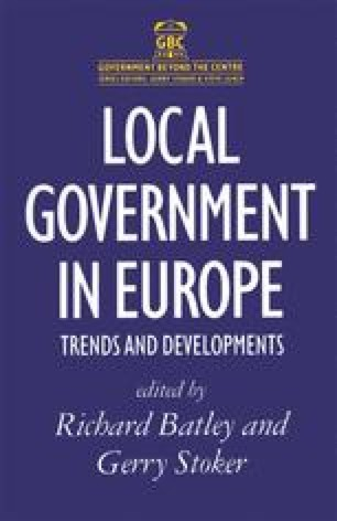 Local Government in Europe