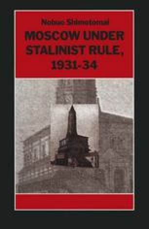Moscow under Stalinist Rule, 1931–34