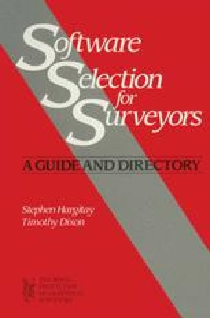 Software Selection for Surveyors