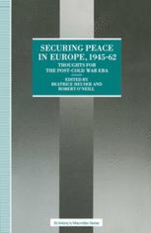 Securing Peace in Europe, 1945–62