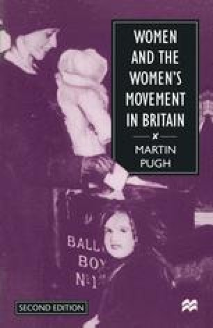 Women and the Women's Movement in Britain, 1914–1999