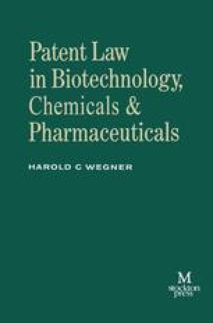 Patent Law in Biotechnology, Chemicals & Pharmaceuticals