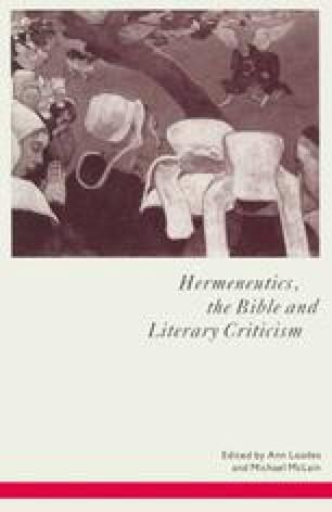 Hermeneutics, the Bible and Literary Criticism
