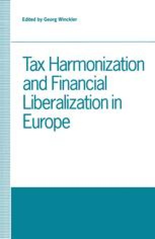 Tax Harmonization and Financial Liberalization in Europe