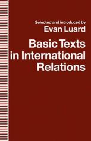Basic Texts in International Relations