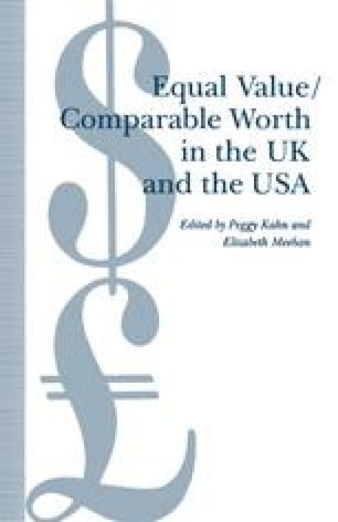 Equal Value/Comparable Worth in the UK and the USA