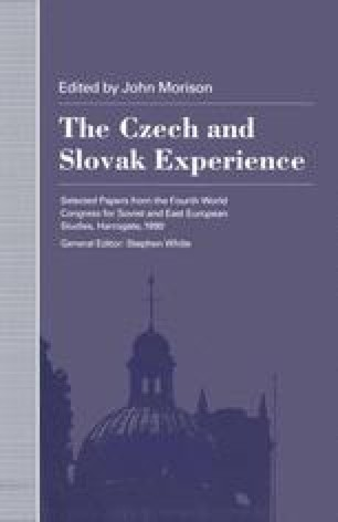 The Czech and Slovak Experience