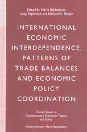 International Economic Interdependence, Patterns of Trade Balances and Economic Policy Coordination