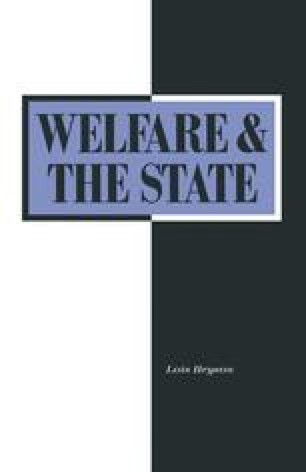 Welfare and the State