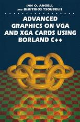 Advanced Graphics on VGA and XGA Cards Using Borland C++