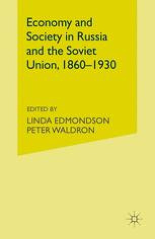 Economy and Society in Russia and the Soviet Union, 1860–1930