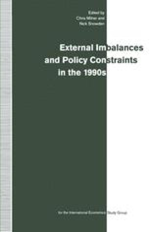 External Imbalances and Policy Constraints in the 1990s