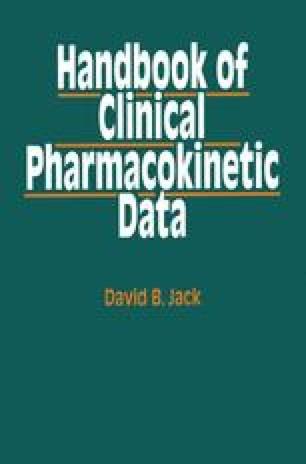 Handbook of Clinical Pharmacokinetic Data