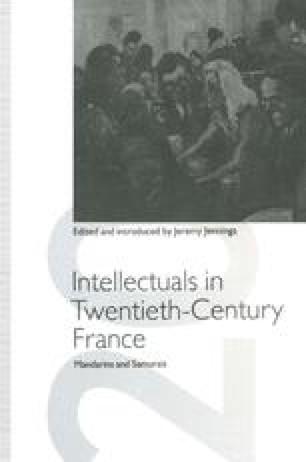 Intellectuals in Twentieth-Century France