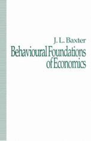 Behavioural Foundations of Economics