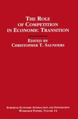 The Role of Competition in Economic Transition