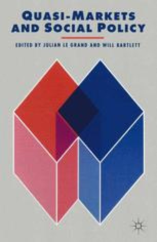 Quasi-Markets and Social Policy