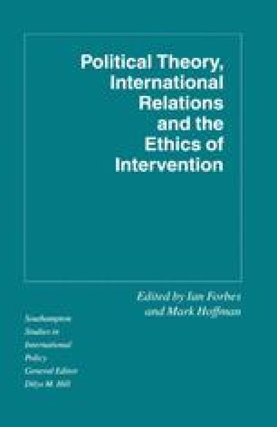 Political Theory, International Relations, and the Ethics of Intervention
