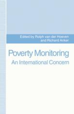Poverty Monitoring: An International Concern