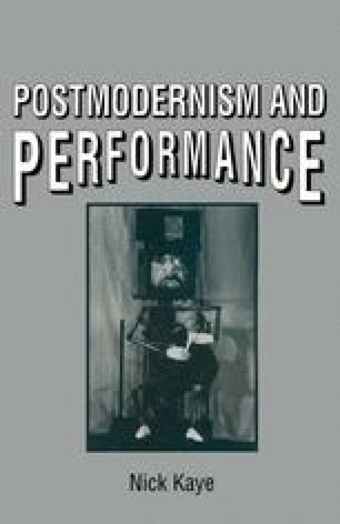 Postmodernism and Performance