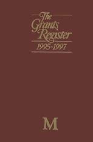 The Grants Register 1995–1997