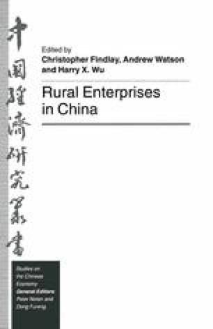 Rural Enterprises in China