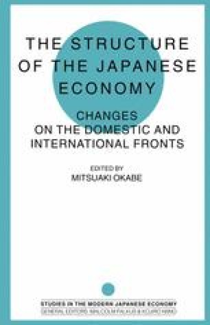The Structure of the Japanese Economy