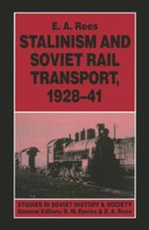 Stalinism and Soviet Rail Transport, 1928–41