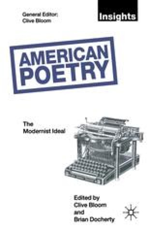 American Poetry: The Modernist Ideal