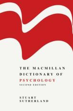 The Macmillan Dictionary of Psychology