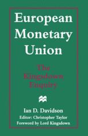 European Monetary Union: The Kingsdown Enquiry