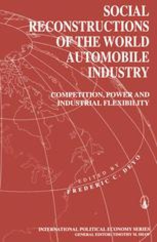 Social Reconstructions of the World Automobile Industry