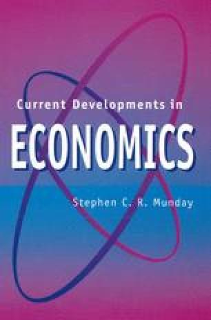 Current Developments in Economics