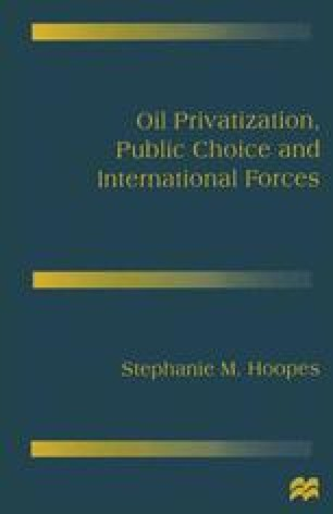 Oil Privatization, Public Choice and International Forces