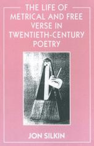 The Life of Metrical and Free Verse in Twentieth-Century Poetry