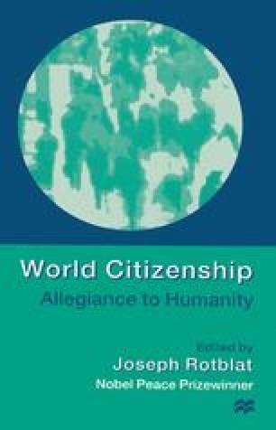 World Citizenship: Allegiance to Humanity