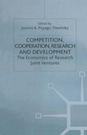 Competition, Cooperation, Research and Development