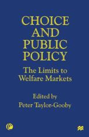 Choice and Public Policy