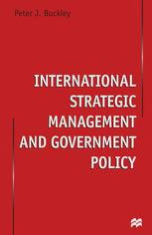 International Strategic Management and Government Policy